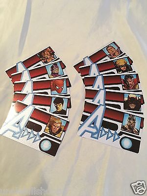 Heroclix Marvel ID Cards Con Exclusive & AoU Lot of 14 w/Avengers Round Table