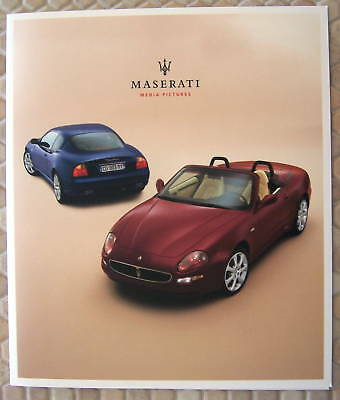 Maserati Official Coupe & Spyder Press Kit & Cd Rom 2003 Usa Edition