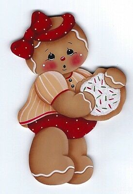 HP GINGERBREAD Girl with Cookie FRIDGE MAGNET
