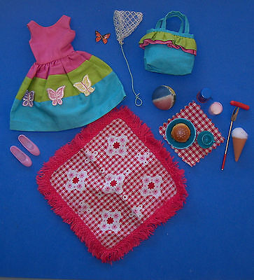 Vintage SKIPPER COUNTRY PICNIC #1933 Near Complete Barbie 1966 Butterfly Net