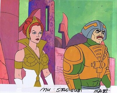 He-Man Masters of the Universe Original Animation Cel & Copy Bkgd #A13311