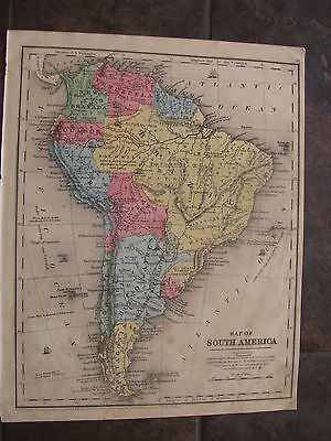 1847 ORIGINAL  Map of South America