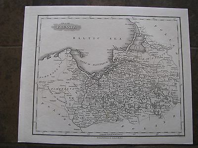 1834 ORIGINAL Map of Poland, Prussia, Germany