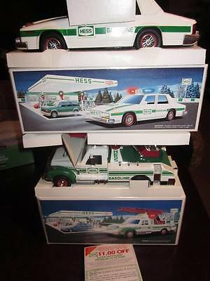 1993 Patrol Car & 1994 Hess Rescue Truck  - New In Boxes