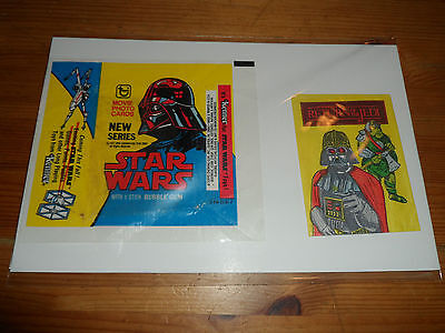 1977 Star Wars & 1983 Return Of The Jedi Trading Cards Series 1 Wax Pack Empty