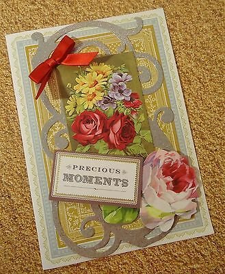 New Baby Precious Moments Greeting Card Vintage Anna Griffin Inspired 106