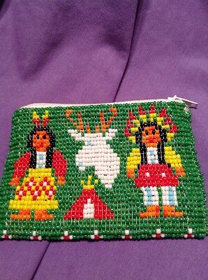 Native American -  Indian Vintage Beaded Change Purse