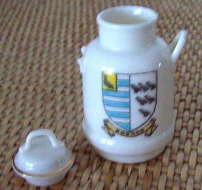 W.h.goss Crested Porclean---Boulogne Milk Can--Stamped