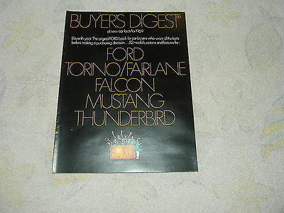 1969 Ford Buyer's Digest 16-page brochure/catalog inc. Mustang