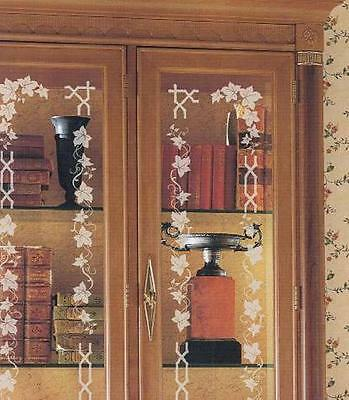 Decorate Mirrors Windows Glass Instantly with 6 Sheets Rub On Etching Stencils