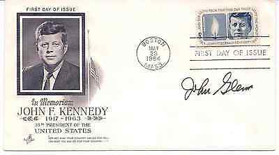 John Glenn Signed First Day Cover 1964 FDC - Astronaut - Space - NASA - PSA/DNA
