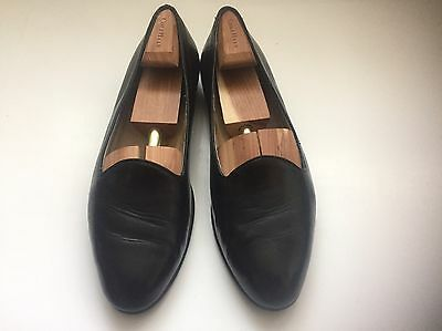 Cole Haan Bragano Black Leather Dress Loafers Shoes Men's Size 10 M