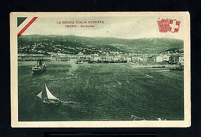 13736-ITALY-OLD unused POSTCARD TRIESTE Panorama.Cartolina ITALIA.Triest.