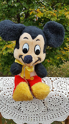 Vintage Mickey Mouse Plush Walt Disney Productions  1950's