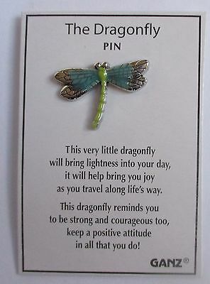 d Dragonfly GOOD LUCK PIN Ganz joy travel strong courageous positive attitude