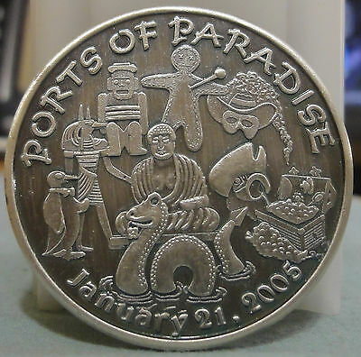 2005 ~Ports of Paradise~ Conde Cavaliers ~Oxidized Silver Mardi Gras Doubloon