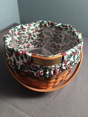 LONGABERGER CHRISTMAS COLLECTION SNOWFLAKE BASKET 1997 LINERS kr