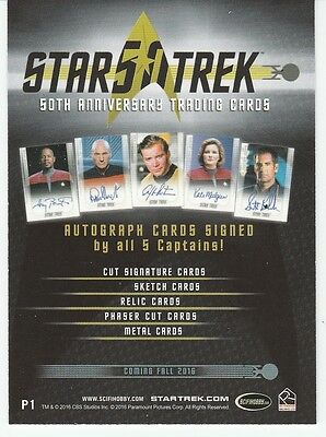 Star Trek 50Th  Anniversary Official Binder With Promo Card