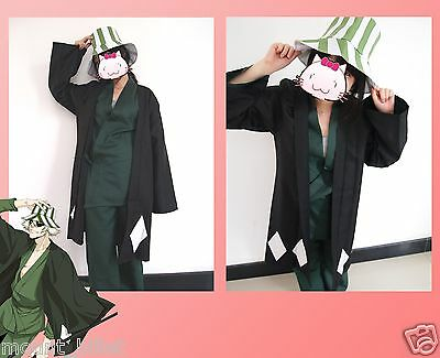 Halloween anime Animation Bleach Urahara Kisuke Cosplay Costume with hat SIZE M