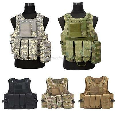 Camouflage Hunting Military Tactical Vest Body Molle Armor Hunting Outdoor Vest