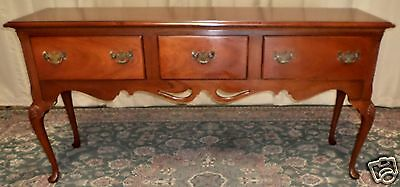 HICKORY CHAIR SIDEBOARD Mahogany Queen Anne Style Huntboard/ Buffet/ Server