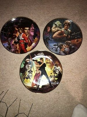 Star Wars Trilogy Plate Collection - The Hamilton Collection COMPLETE SET .
