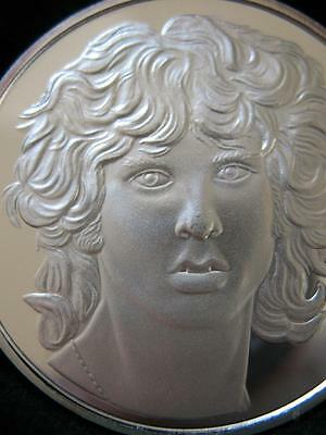 1-Oz.999 Silver Limited Rare Proof Low #45 Of 100 Jim Morrison The Doors  + Gold