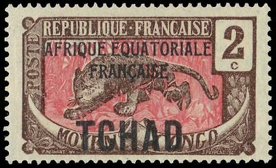 CHAD 20 (Mi20) - African Leopard Overprinted (pa75356)