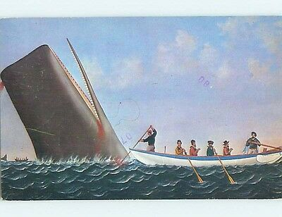 Pre-1980 PAINTING AT WHALING MUSEUM New Bedford Massachusetts MA ho9747