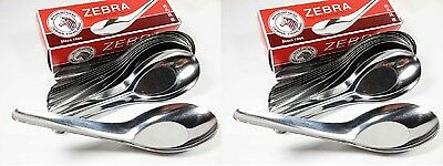 24 x Zebra Stainless Steel Chinese Spoon 100% Brand New Made in Thailand