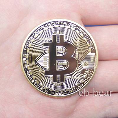 Bitcoin Physical Collectible Gold plated 1 Ounce 40mm