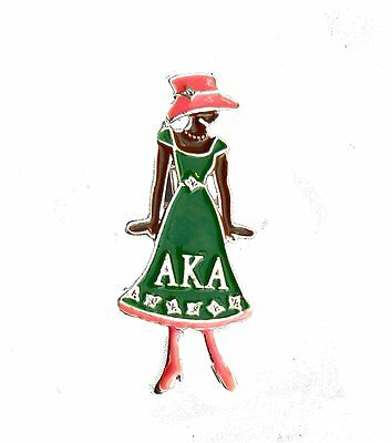 Alpha Kappa Alpha Sorority Diva Greek Letter Pin  /