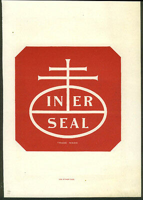 Inner Seal NABISCO National Biscuit Company ad insert ca 1910