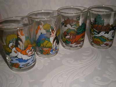 Vintage RETRO Animated DOGS Set of 6 SWANKY SWIGS Made in France