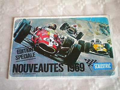 Vintage French Scalextric Catalogue Special Edition Nouveautes 1969