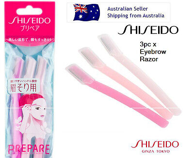Shiseido Eyebrow Razor 3pcs JAPAN HAIR BROW SHAPER EYELASH Shaver Tool Knife