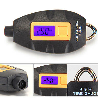 LCD Digital Tire Tyre Air Pressure Gauge Tester Tool For Auto Motorcycle Car New