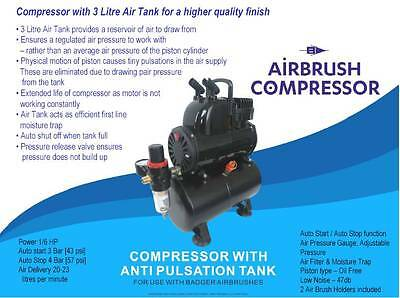 Badger Airbrush Compressor With Anti Pulsation # BA1100