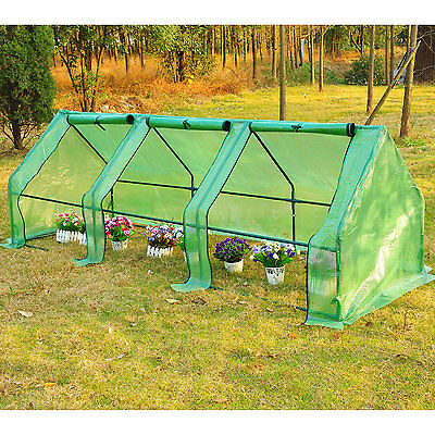 Outsunny Portable Greenhouse Tunnel Plants Flower Garden Green House 9'x3'x3'