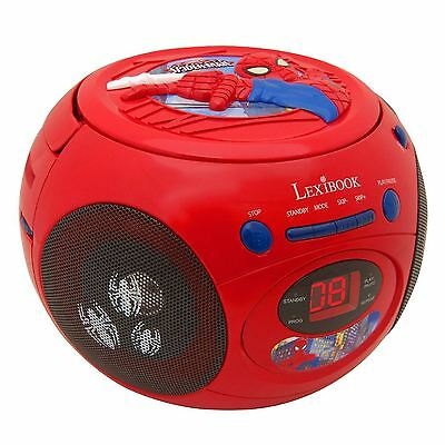 MARVEL SPIDERMAN RADIO CD PLAYER NEW by LEXIBOOK OFFICIAL