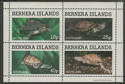 GB Locals - Bernera (132) 1981 TURTLES perf & imperf sheetlets  unmounted mint