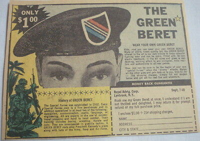 "1966 Ad The Green Beret ""Wear Your Own Green Beret"" Royal Advtg. Corp."