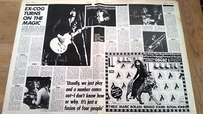 LED ZEPPELIN 'about to tour UK' 2 page ARTICLE / clipping