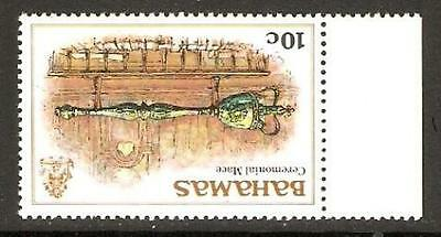 BAHAMAS SG560w 1980 10c DEFINITIVE WMK INVERTED MNH