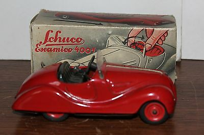 VERY NICE 1930's SCHUCO EXAMICO 4001  ROADSTER made in GERMANY w/BOX and PAPERS