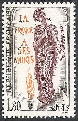 France 1985 Memorial Day/Marianne/Flame/Fire/Art/Animation 1v (n41890)
