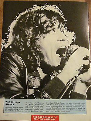 The Rolling Stones, Mick Jagger, Full Page Vintage Clipping