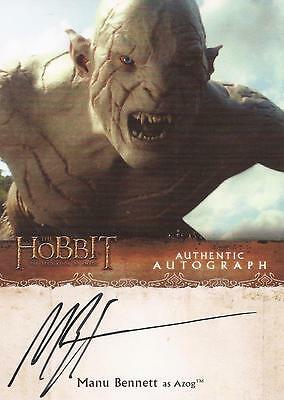 "The Hobbit Desolation of Smaug - Manu Bennett ""Azog"" Autograph Card"