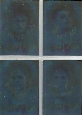 """Harry Potter Goblet of Fire Cards Inc - """"Triwizard Champions"""" 4 Card Chase Set"""