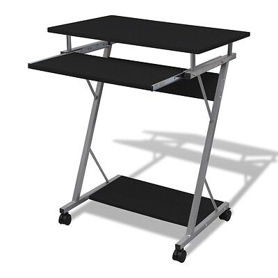 #sNEW Black Computer Desk Pull Out Tray Office Furniture Table Desktop